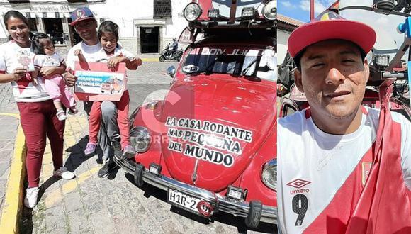 Peruano recorre Sudamérica con su familia en la 'Casa rodante más pequeña del mundo' (VIDEO)
