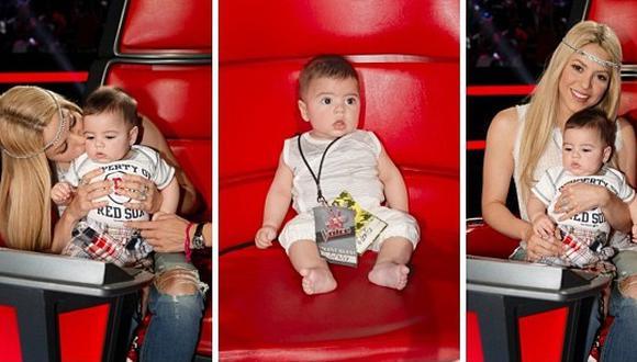 Shakira y su bebé se despidieron de The Voice