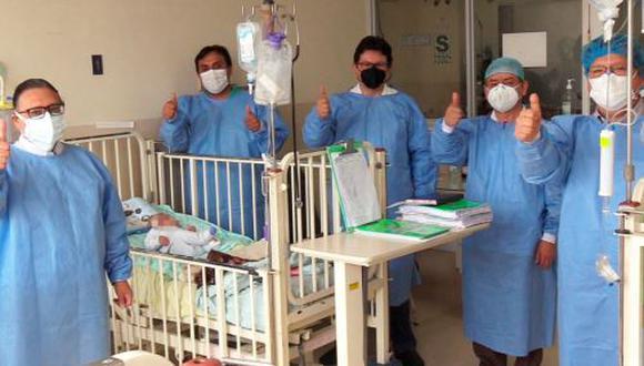 Médicos del INSN le salvaron la vida a un bebé al operarle con éxito una compleja enfermedad que tenía en el cerebro. (Foto: INSN)