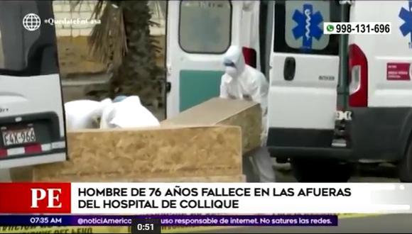 Coronavirus: paciente de 76 años murió en exteriores del Hospital de Collique