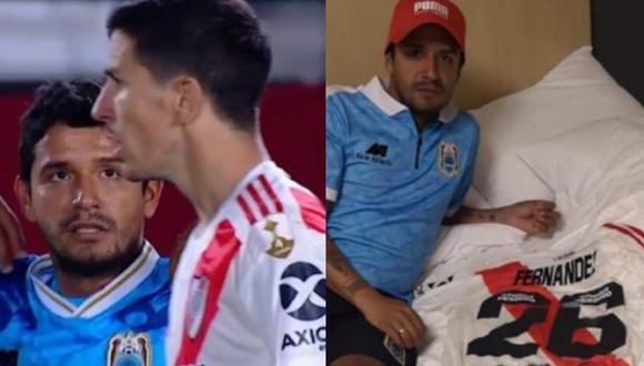 Reimond Manco habló sobre la polémica que se generó por intercambiar camiseta con 'Nacho' Fernández (Foto: Captura video Fox Sports / Twitter)