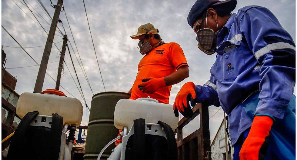 Coronavirus: Fumigan calles del distrito de Santiago de Cao (FOTOS)