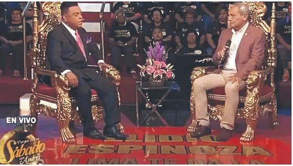 Halagan gestión de Elidio Espinoza en programa de televisión
