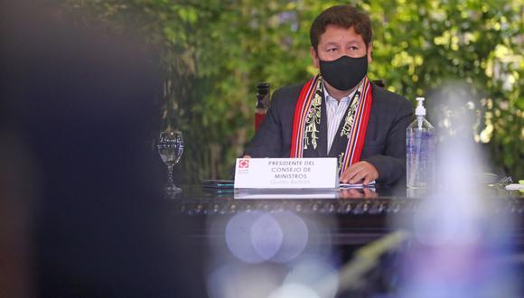 Guido Bellido acudió ayer al Congreso para plantear cuestión de confianza. (Foto: Alessandro Currarino/GEC)