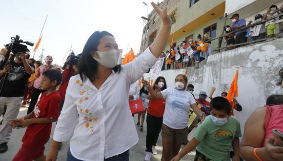 Keiko Fujimori debatirá este sábado 1 de mayo con Pedro Castillo, de cara a la segunda vuelta de las Elecciones 2021. (Foto: GEC)