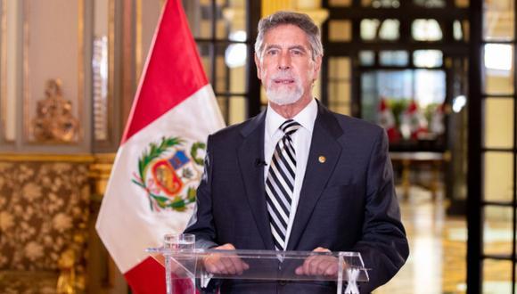 El presidente Francisco Sagasti informó sobre las nuevas medidas ante la COVID-19.| Foto: Andina
