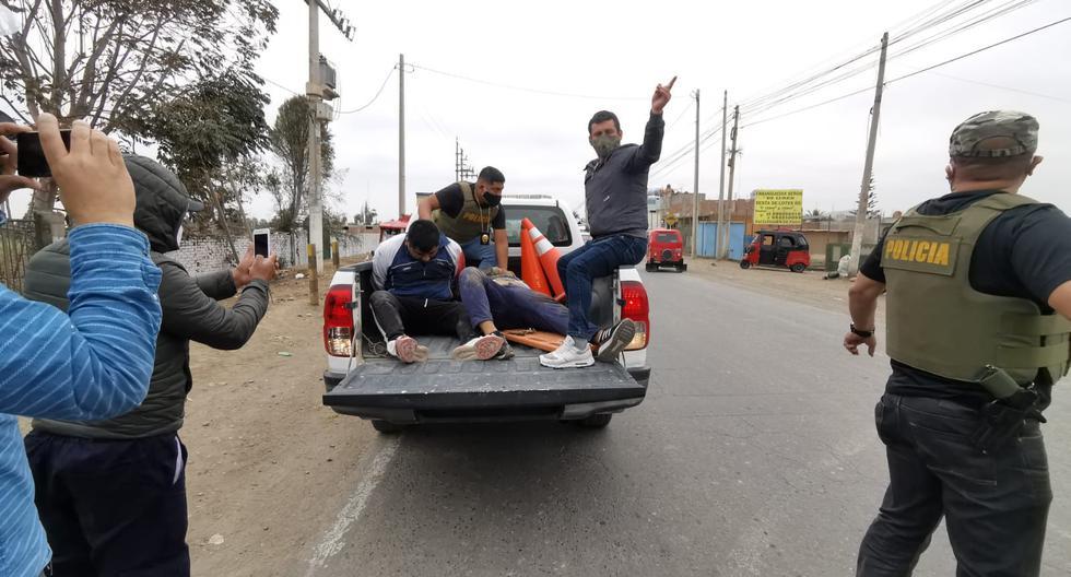 Cañete: PNP frustra asalto a grifo y captura a dos sujetos (VIDEO)