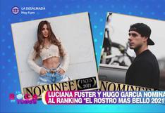 """Luciana Fuster y Hugo García nominados al concurso """"El rostro más bello 2021″"""