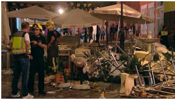 España: explosión de balón de gas dejó más de 70 heridos (VIDEO)