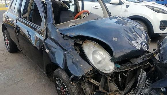 Accidente en la vía Panamericana Sur deja dos heridos