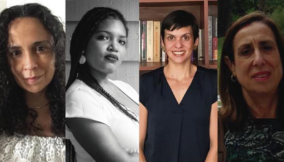 Las investigadoras Mariana Libertad Suárez, Sharún Gonzales, Ainaí Morales y Rosanna Merino Silicani participan del ciclo (Foto: Centro Cultural Petroperú).