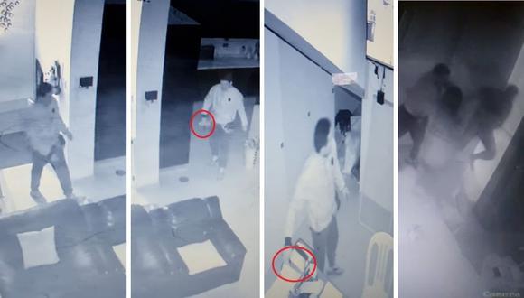 Videos muestran cuando presunto feminicida ingresa a domicilio de la víctima y luego la busca para ultimarla de varias puñaladas en distintas parte del cuerpo.