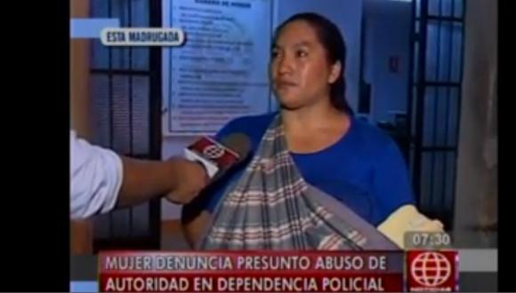 Madre denuncia abuso de PNP al detenerla por venta de drogas