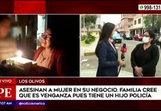 Mujer es asesinada a balazos dentro de su negocio, en Los Olivos