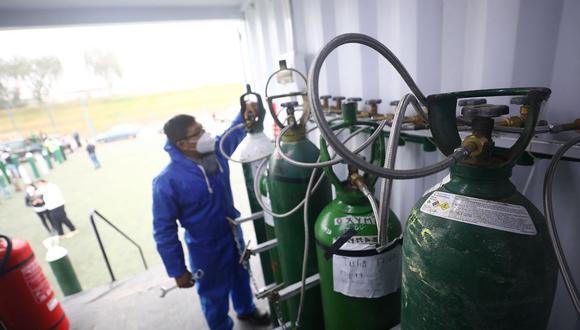 La planta de oxígeno móvil de la Ampe brinda este recurso de forma gratuita. (Foto: Britanie Arroyo/GEC)