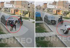 Chincha: Cámaras registran asalto de 'raqueteros' a joven universitaria (VIDEO)