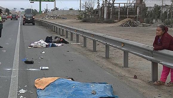 Chofer de tráiler atropelló a dos venezolanos y se dio a la fuga en Panamericana Sur