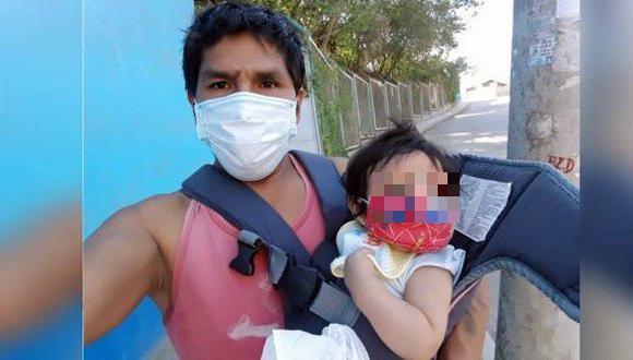 Mujer abandonó a su bebé con labio leporino y ahora el padre pide ayuda en Cusco.