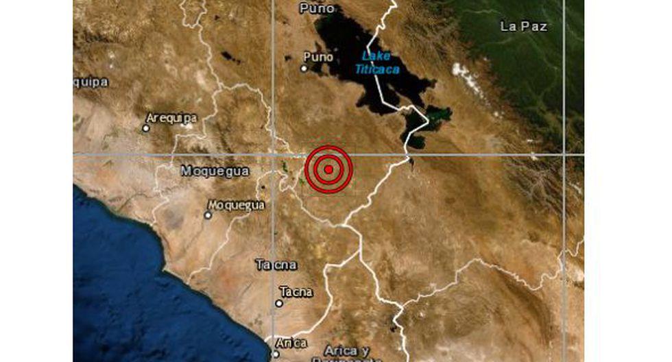 Las autoridades locales del Instituto Nacional de Defensa Civil (Indeci) aún no han reportado daños personales ni materiales a causa del sismo, que ocurrió esta madrugada. (Foto: IGP)