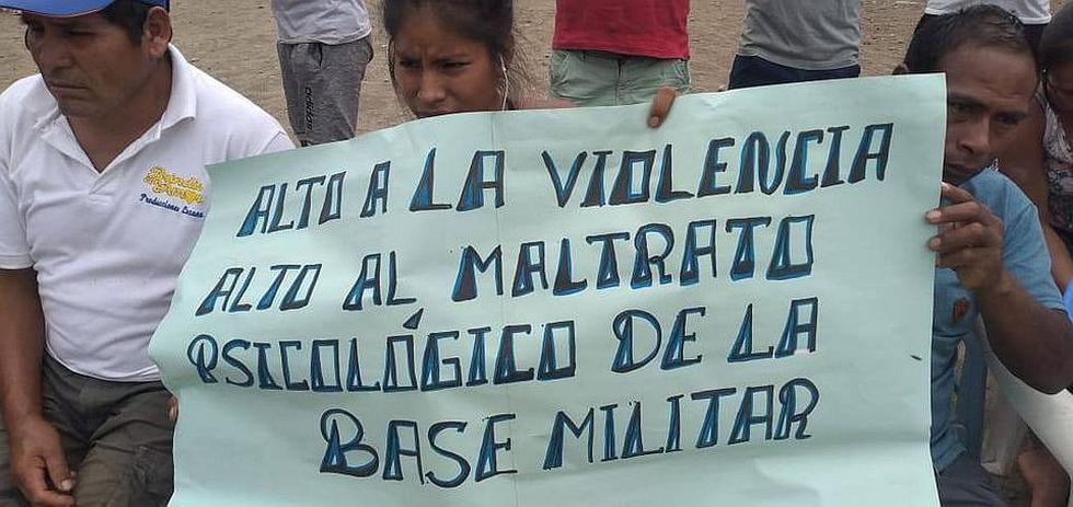 Población de Canayre pide reubicar base militar