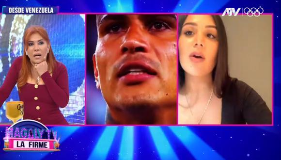 """""""Solo un 'chape' la verdad"""", contó Alexandra Méndez, 'La Chama'. (Foto: Captura Magaly TV: La Firme)."""