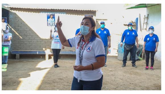 Candidata al Congreso por APP le respondió al líder del Partido Morado, que llegó a Trujillo y cuestionó a César Acuña.