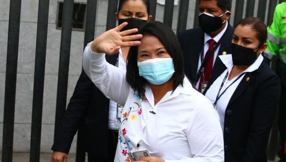 La candidata de Fuerza Popular, Keiko Fujimori, cuestionó llamadas realizadas por el presidente Francisco Sagasti. (Foto: Alessandro Currarino / @photo.gec)