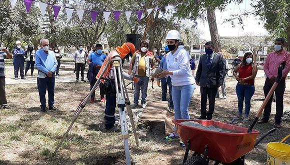 Municipio de Ica inicia el mejoramiento del parque Abraham Valdelomar