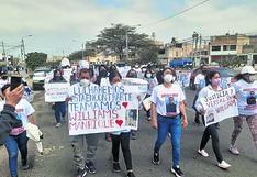 Realizan marcha para pedir que no cese búsqueda de motorista en Nuevo Chimbote