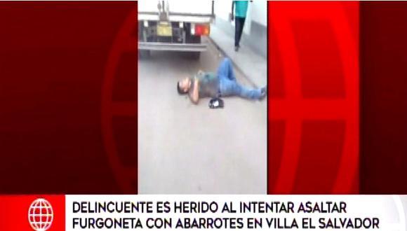 """Delincuente es herido tras intentar cometer asalto: """"Una ambulancia, por favor"""" (VIDEO)"""