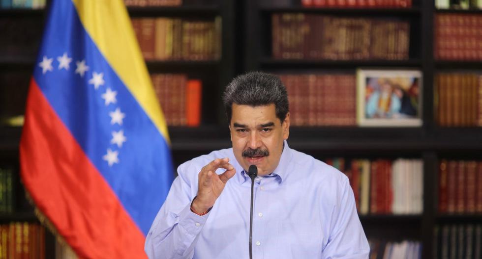 El presidente de Venezuela, Nicolás Maduro, es visto durante una conferencia de prensa en Caracas, el 04 de octubre de 2020.  (EFE/EPA/Miraflores press).