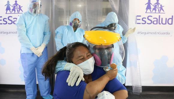Moquegua: profesora de inicial es la primera pacientes en vencer al COVID-19 en la Villa Essalud (Foto: Andina)