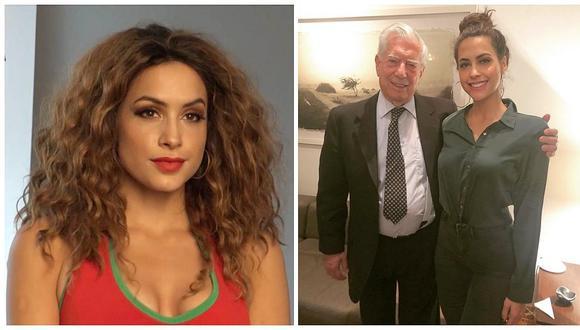 Milett Figueroa emocionada por visita de Mario Vargas Llosa a musical de su obra (FOTOS)