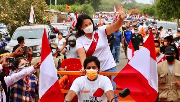 La lideresa de Fuerza Popular promete destrabar el Proyecto Alto Piura, entregar tractores y apoyar a los agricultores. (Foto: Fuerza Popular)
