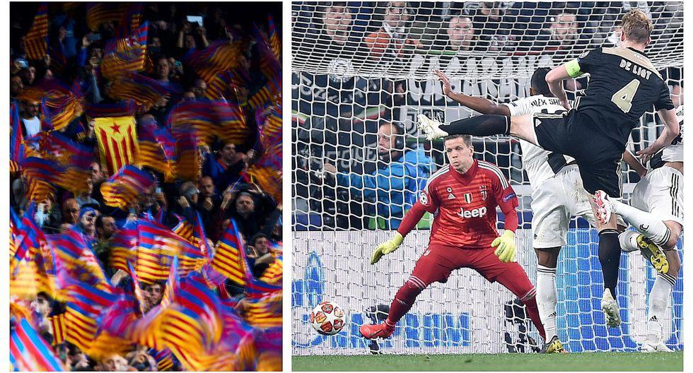 Hinchas del Barcelona celebraron el gol con el que Ajax eliminó a Cristiano Ronaldo de la Champions (VIDEO)