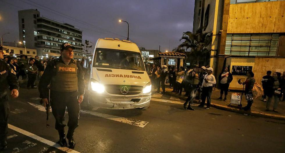 Edwin Donayre es llevado al penal Castro Castro en ambulancia (FOTOS)
