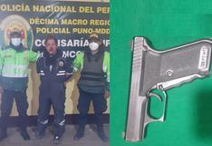 Mineros arrebatan arma de fuego a presunto delincuente en La Rinconada