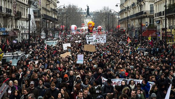 Incidentes en las manifestaciones contra la reforma laboral en Francia