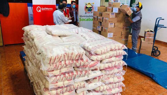Municipios entregan alimentos transferidos de Qali Warma