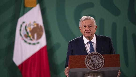 Andrés Manuel López Obrador conmemoró hoy los sismos de 1985 y 2017. (Foto: PEDRO PARDO / AFP)