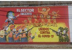 """La Libertad: Pobladores de """"El Ingenio"""" pintan mural y le declaran la guerra al coronavirus (VIDEO)"""