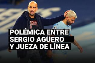 Pep Guardiola defendió a Sergio Agüero por polémica acción con jueza de línea