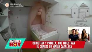 Pamela Franco y Christian Domínguez muestran la habitación de su bebé a días de su llegada