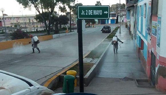 Huancavelica: Distritos de Churcampa pasan por proceso de desinfección
