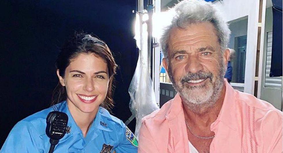 """Stephanie Cayo presentó el tráiler de """"Force of Nature"""", su película junto a Mel Gibson. (Foto: @unlunar)"""