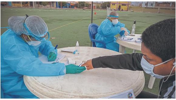 Se realizaron 117 pruebas rápidas en el marco del Plan de Intervención Sanitaria.