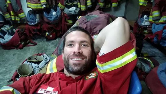 'Paco' Bazán estuvo de servicio como bombero voluntario en Año Nuevo (FOTOS)