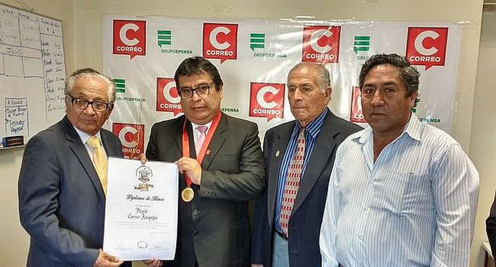 Correo Arequipa recibe reconocimiento de Sada