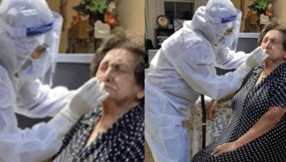 la simpática anciana se hizo la prueba luego que la persona que la ayuda en casa diera positivo para coronavirus.