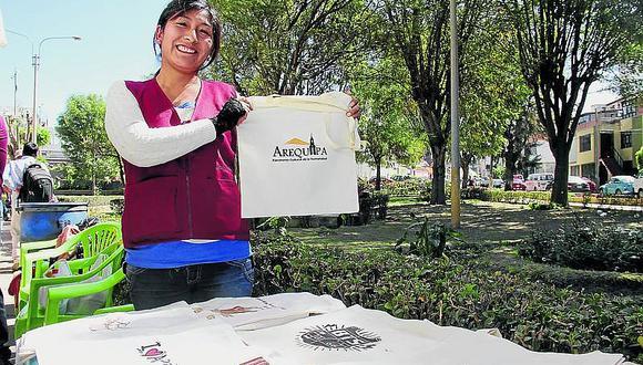 Bolsas ecológicas con aplicaciones personalizadas en Arequipa